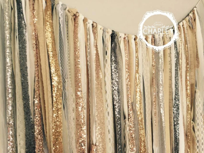 Fabric Backdrop Garland