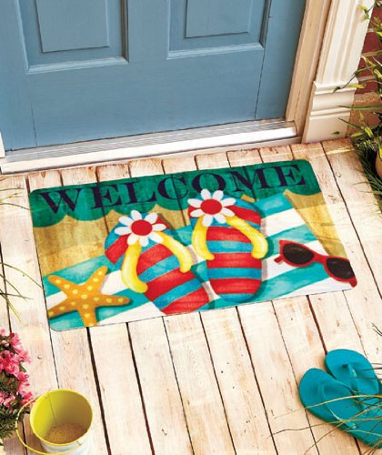 Flip-Flop Themed Welcome Mats