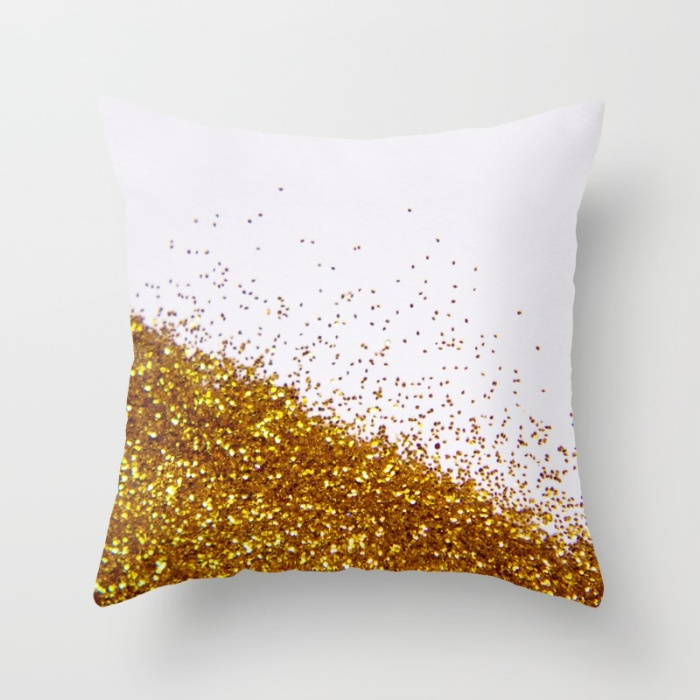 Glitter Throw Pillow Cover