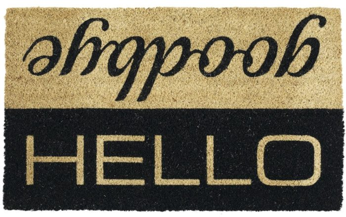 Hello Goodbye Entry Doormat