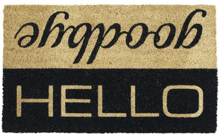 Hello Goodbye Entry Doormat