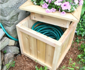 Beautify your Garden with DIY Hose Storage Planter