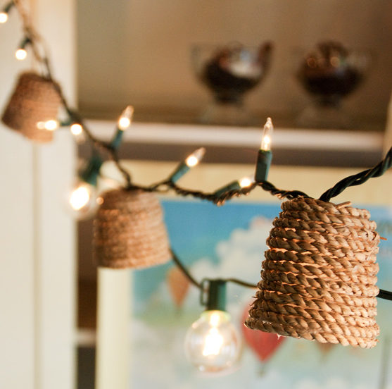 Jute Twinkle Light Shade