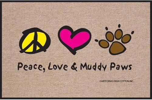 Peace Love Paws Doormat