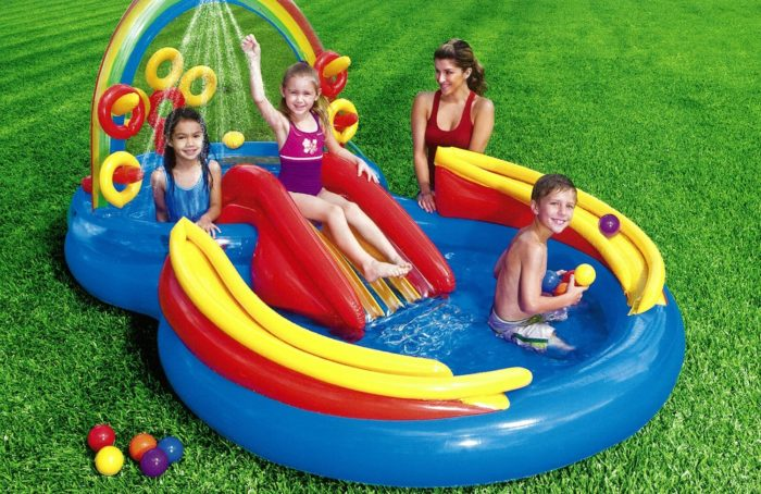 Rainbow Ring Inflatable Play Center