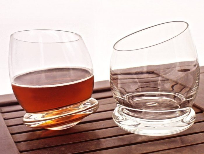 Rocking Whiskey Glasses