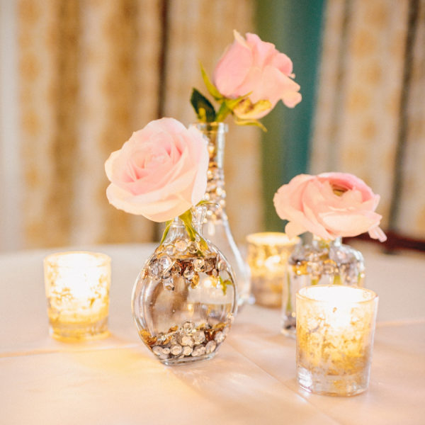 Sequin Vase Reception Decor