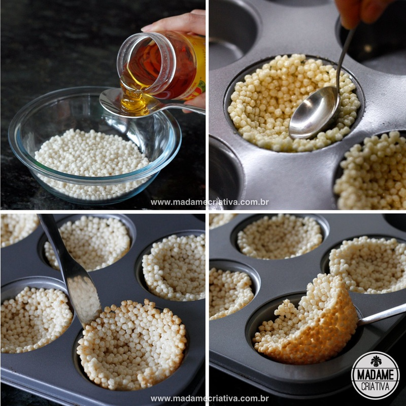 Steps to make rice flakes basket