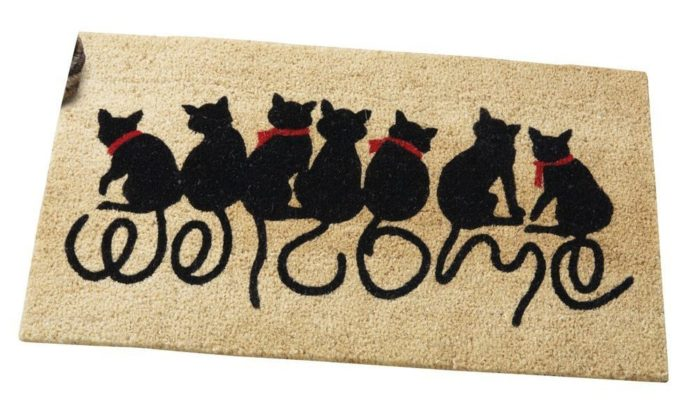 Welcome Kitties Front Door Mat