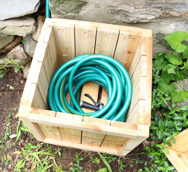 hose hiding planter with hose
