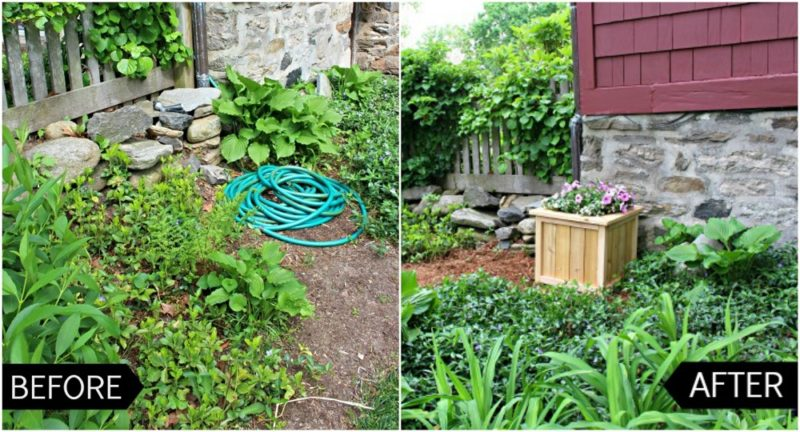 hose storage before & after