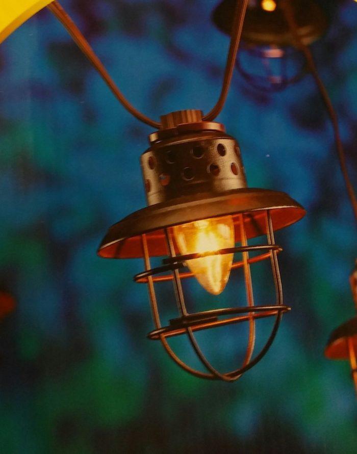 Caged Lantern Lamp