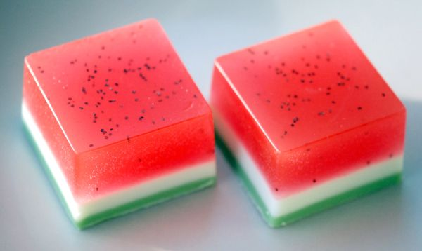 DIY Watermelon Soap