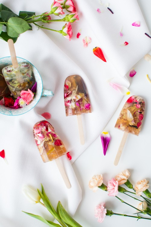 Floral Soap Lollies