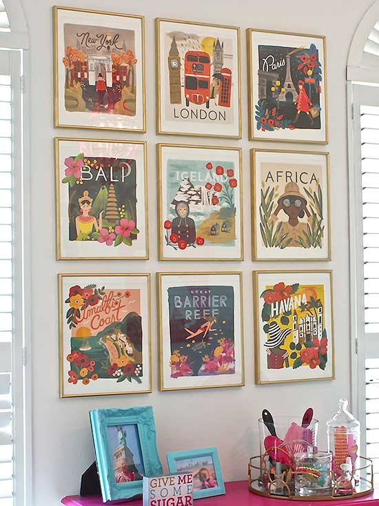 Art Gallery Calendar : Unique ways to decorate your bare walls home designing