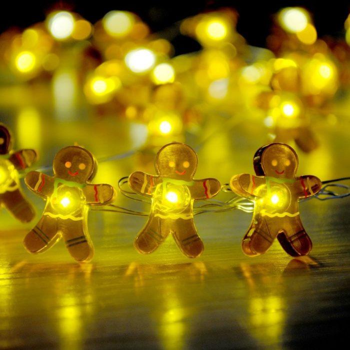 Gingerbread Man String Lights