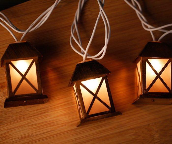 House Shaped Lantern String Light