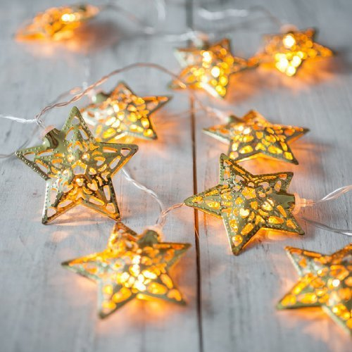 Metal Star String Decoration Light