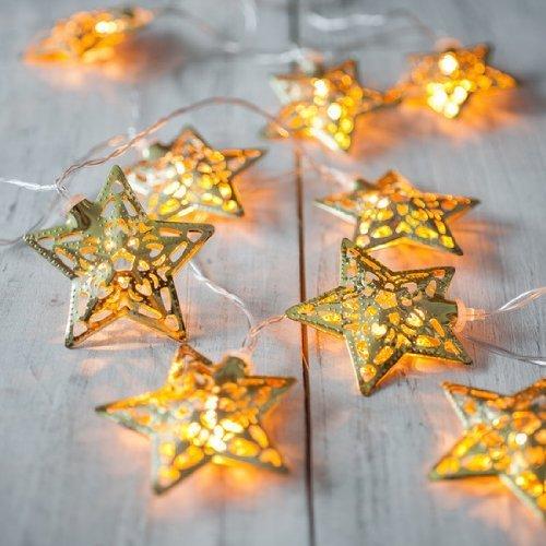 Metal Star String Decoration Light