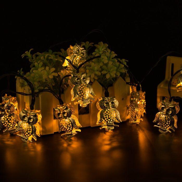 Owl Shape Solar String Lights