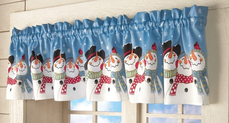 Snowman Friends Christmas Holiday Valance