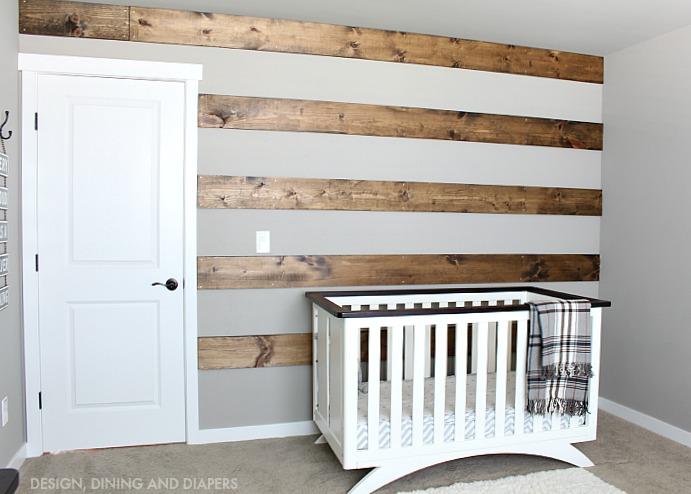 Wood Striped Wall