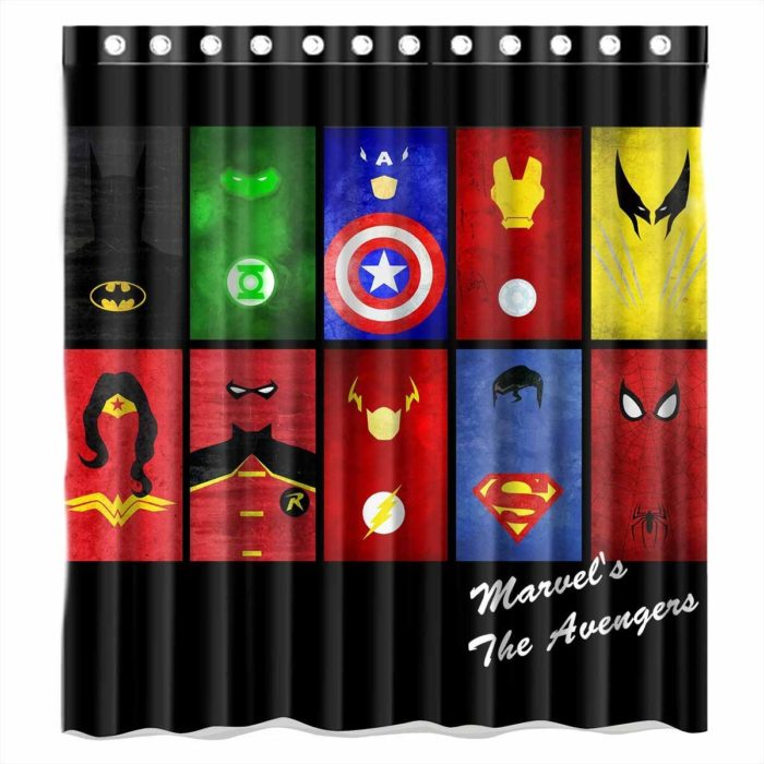 All Characters Logo Curtain