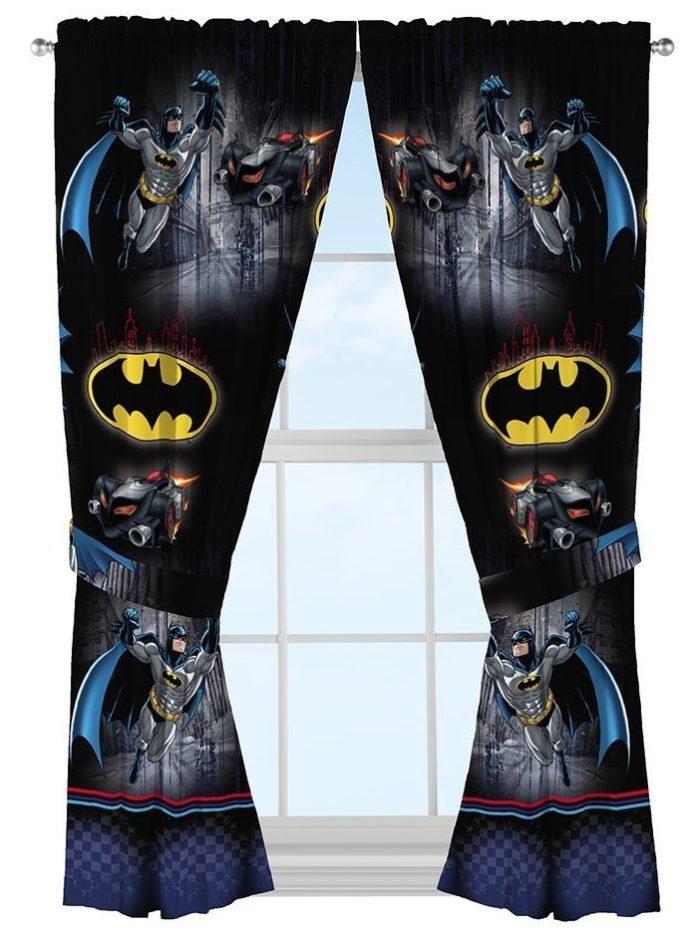 Batman Safe Window Drapes