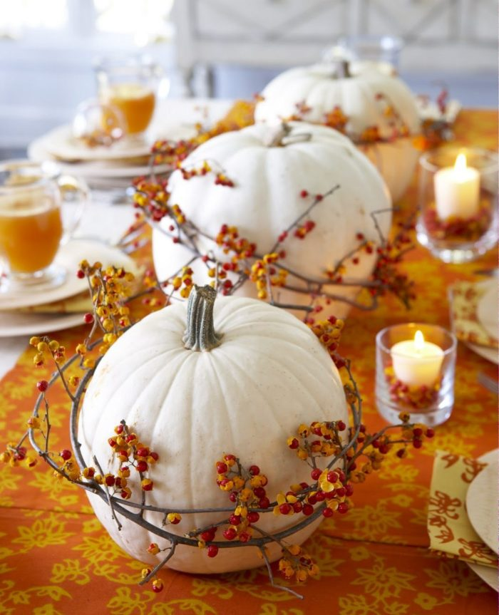 Bittersweet Pumpkin Table Decor