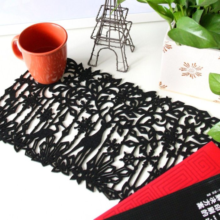 Black Deer Floral Placemat