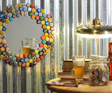 Bottle Cap Collector Mirror