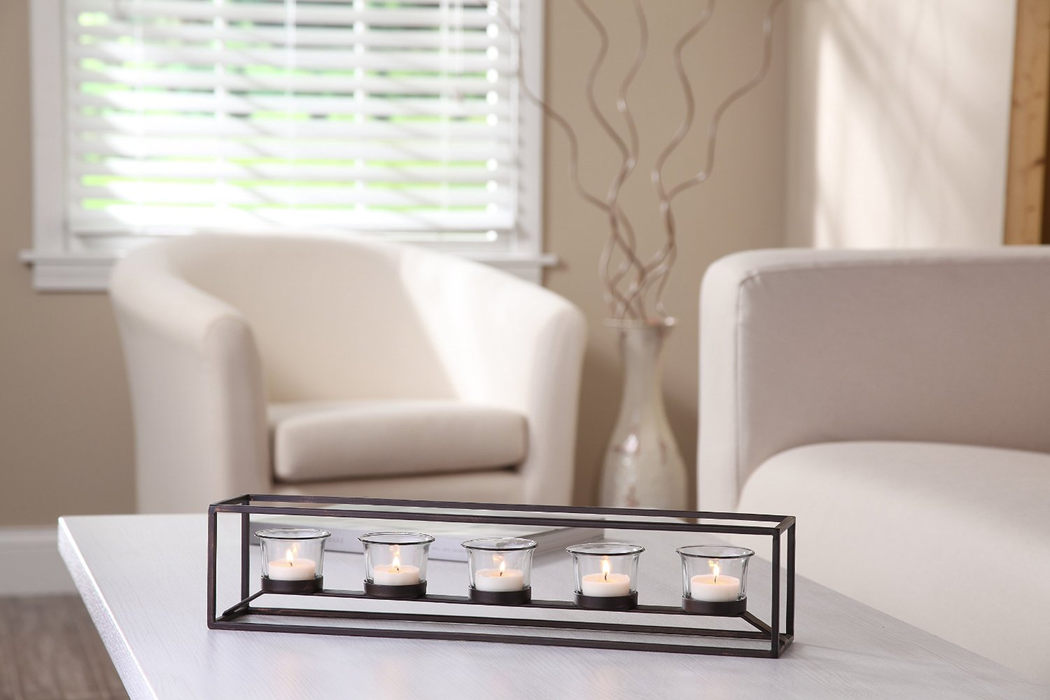Candle holder with Clear Glass