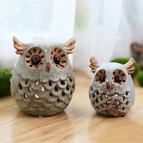 Ceramic Owl Candle Lantern