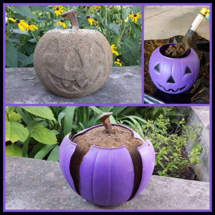 Concrete Halloween Ornament