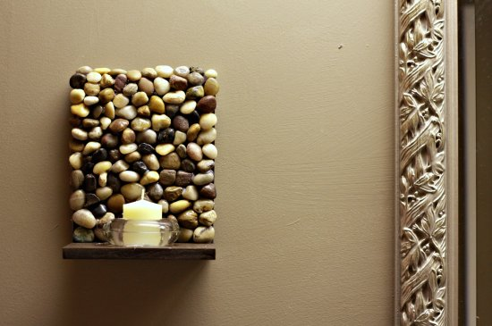 DIY Stone Sconces