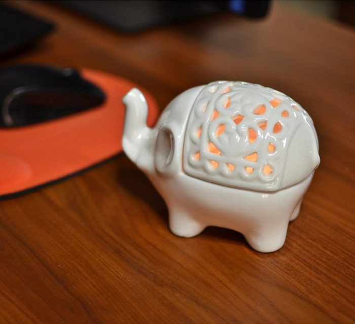 Decorative Elephant Candleholder