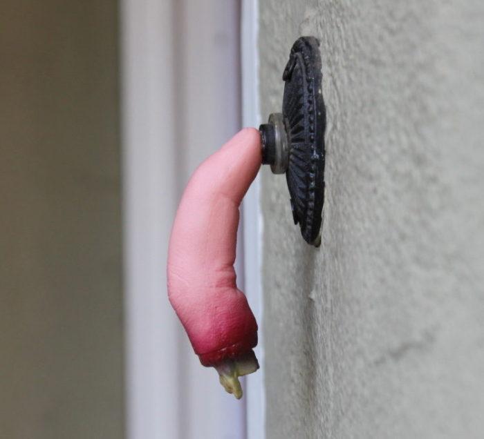 Finger on Doorbell