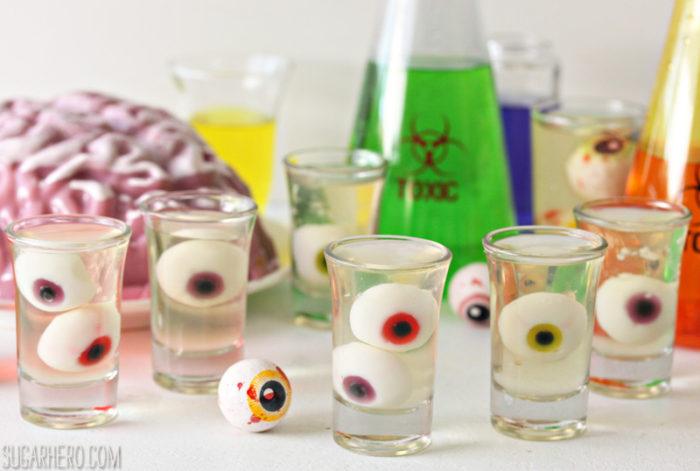 Floating Eyeball Jell-o Shots