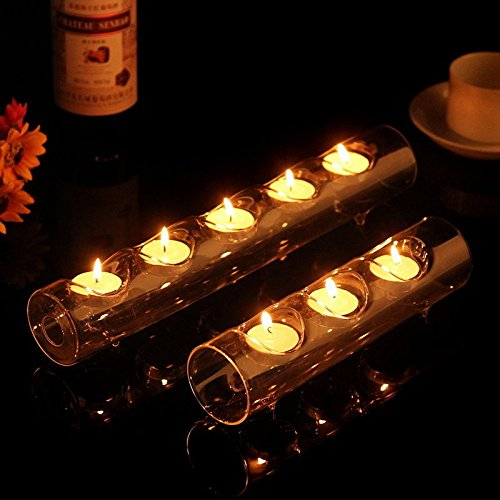 Glass Tube Tealight Holder