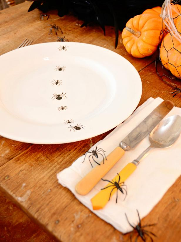 Halloween Hand Painted Dinner Plates