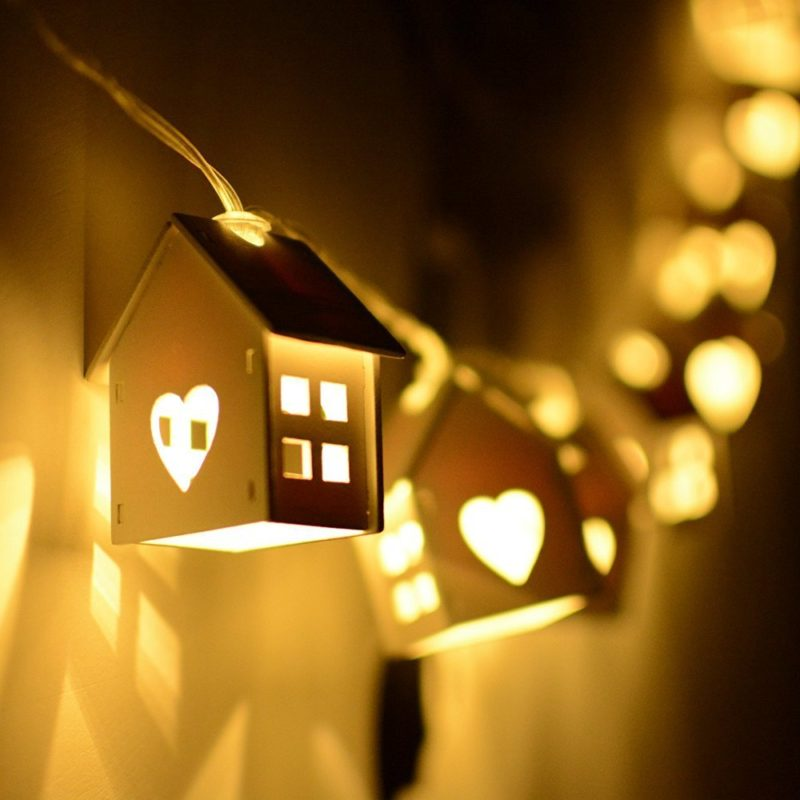 House Shape Light for Christmas Party and Room Decoration