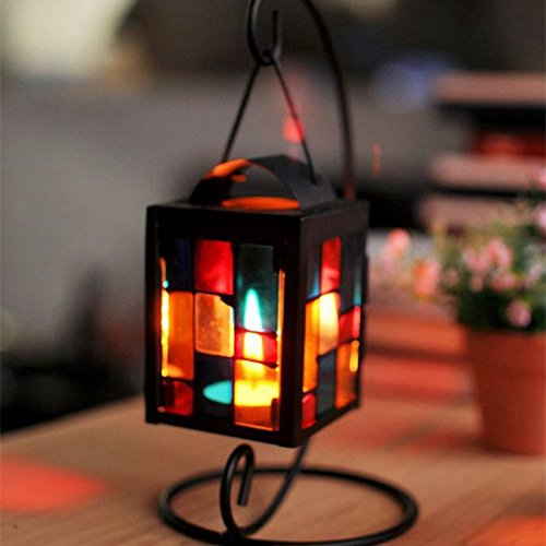 Iron Art Lantern Candle Holder