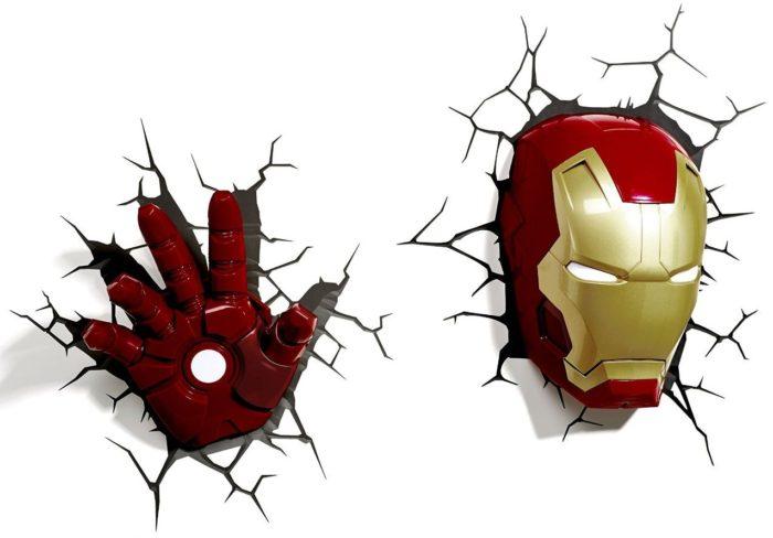 Iron Man Hand 3D Wall Light