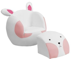 7 Cutely Themed Chair and Footstool Sets for Kids Room