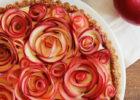 Maple Custard Tart with Apple Rose Decor