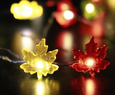 Maple Leaves Fairy String Lights