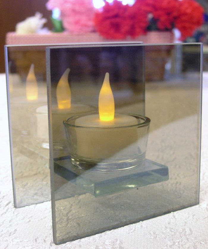 Mirrored Glass Flameless Tealight