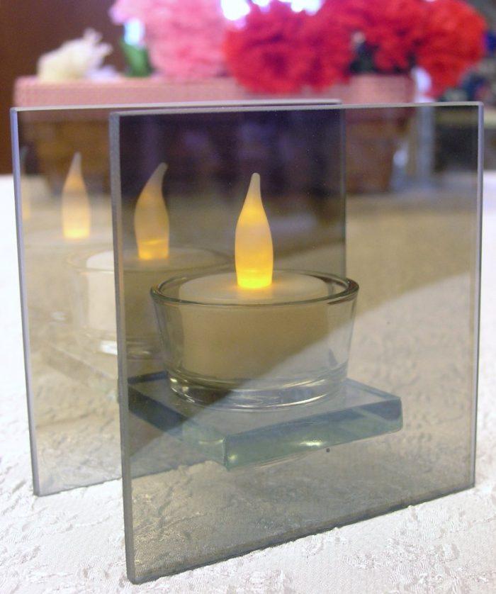 Mirrored Glass Flameless Tealight