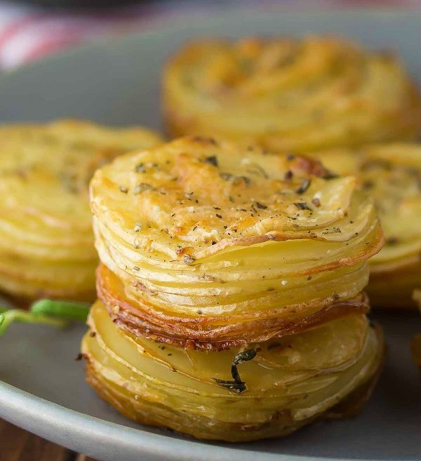 Parmesan Rosemary Potato Stacks