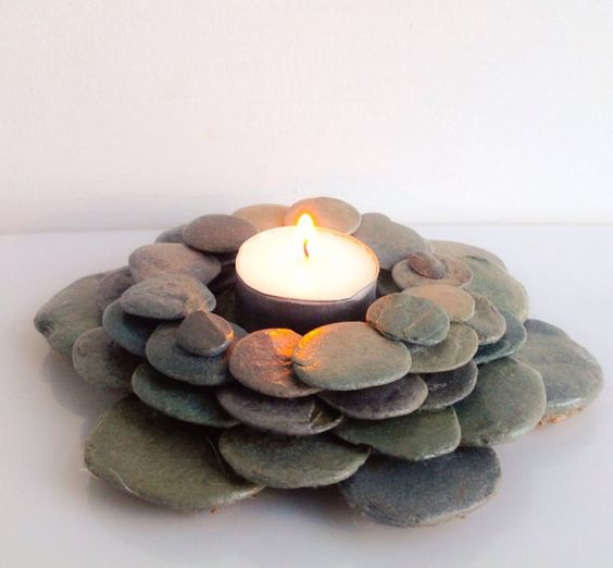 Pebble Tealight Holder